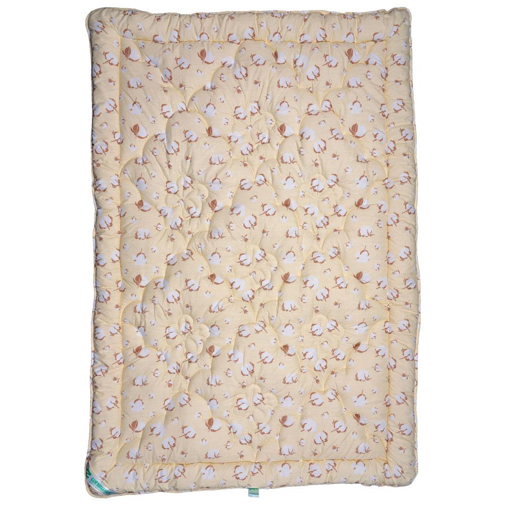 Одеяло Славянский пух Био хлопок антиаллергенное зимнее стеганое кремовое 200х220 см 2000г