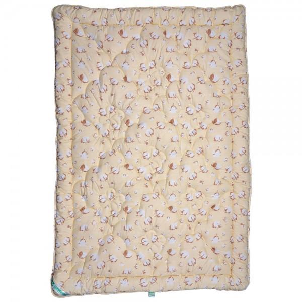 Одеяло Славянский пух Био хлопок антиаллергенное зимнее стеганое кремовое 172х205 см 1800г