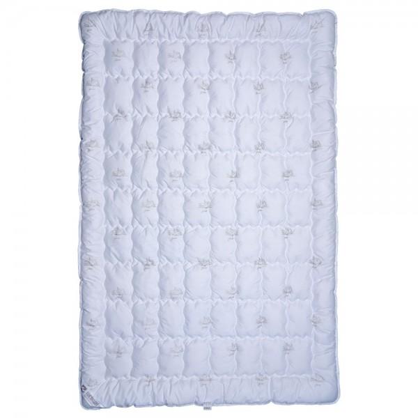 Одеяло Славянский пух Лебяжий Пух антиаллергенное зимнее стеганое White 140х205 см 1200г