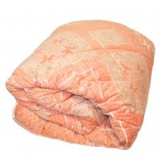 Одеяло Славянский пух Нежность Winter 3D антиаллергенное зимнее стеганое лососевое 142х205 см