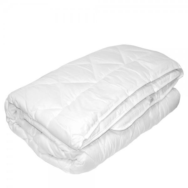 Одеяло Славянский пух Шик Элит шерстяное зимнее стеганое белое 155х215 см 1700г