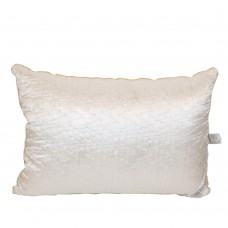 Pillow Slavic down Bio Silk silk anti-allergenic quilted white with piping 50x70 cm 700g