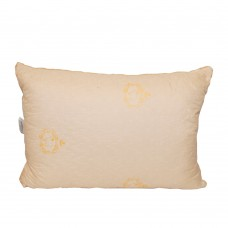 Pillow Slavic fluff Golden fleece half-woolen quilted cream 50x70 cm
