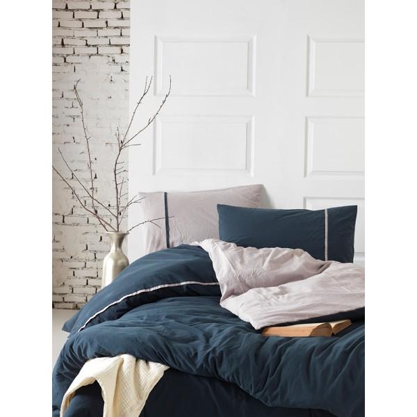 Комплект постельного белья SoundSleep Stonewash DoubleFace евро синий