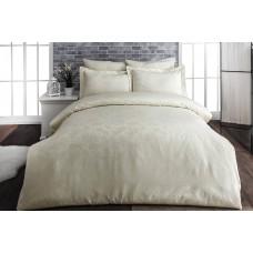 Комплект постельного белья SoundSleep Сатин-жаккард евро Yarak Cream