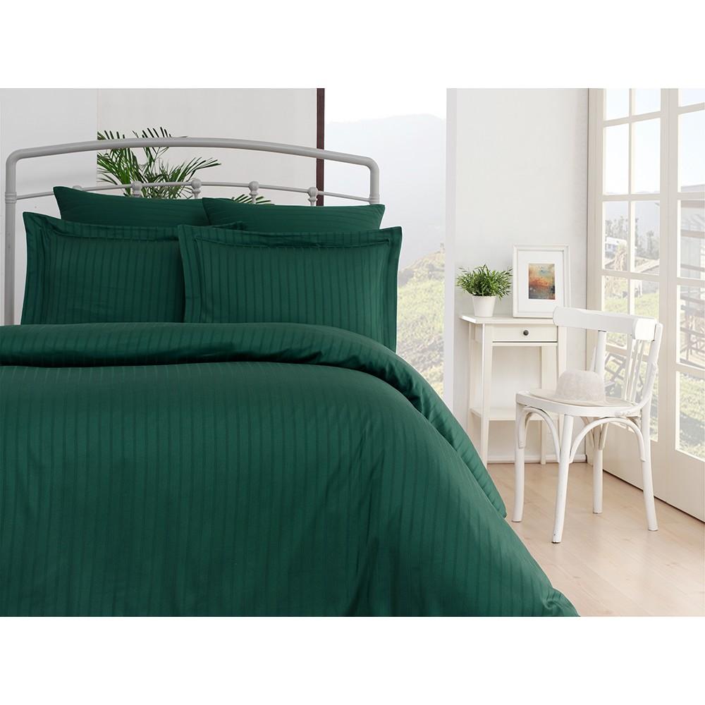 Комплект постельного белья SoundSleep Exclusive Line жаккард евро зеленый