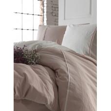 Комплект постельного белья SoundSleep Stonewash DoubleFace семейный пастельный-розовый