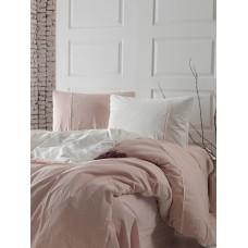 Комплект постельного белья SoundSleep Stonewash DoubleFace полуторный пастельный-розовый