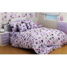 Комплект постельного белья SoundSleep Violet Owls подростковый
