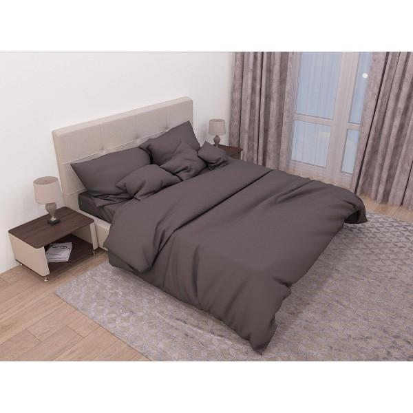 Комплект постельного белья SoundSleep Сasual maroon ранфорс полуторный