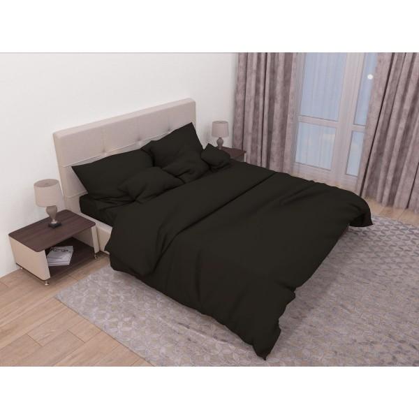 Комплект постельного белья SoundSleep Сasual black ранфорс евро