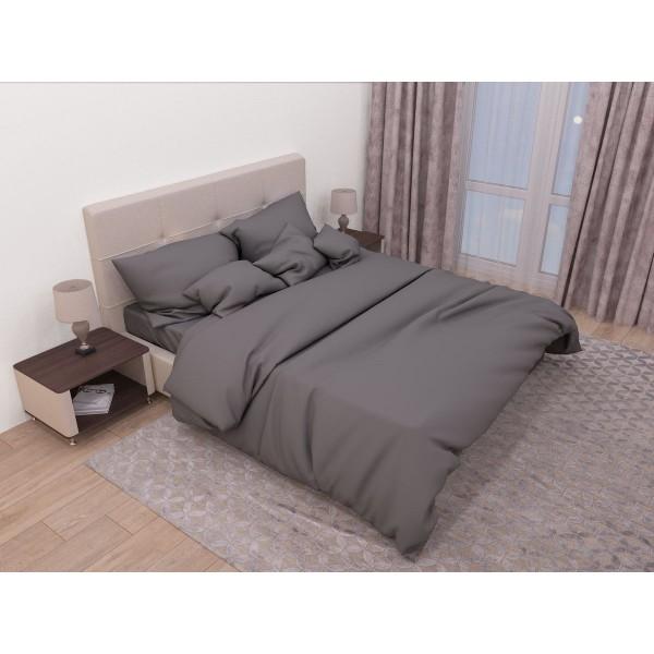 Комплект постельного белья SoundSleep Сasual grey ранфорс полуторный