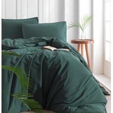 Комплект постельного белья SoundSleep Stonewash Adriatic полуторный dark green зеленый