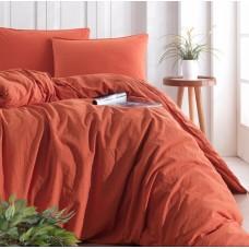 Комплект постельного белья SoundSleep Stonewash Adriatic евро orange кирпичный
