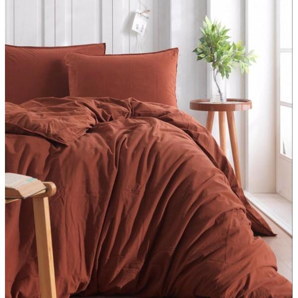 Комплект постельного белья SoundSleep Stonewash Adriatic полуторный brown коричневый