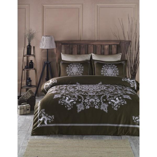 Комплект постельного белья SoundSleep Mandala Brown евро