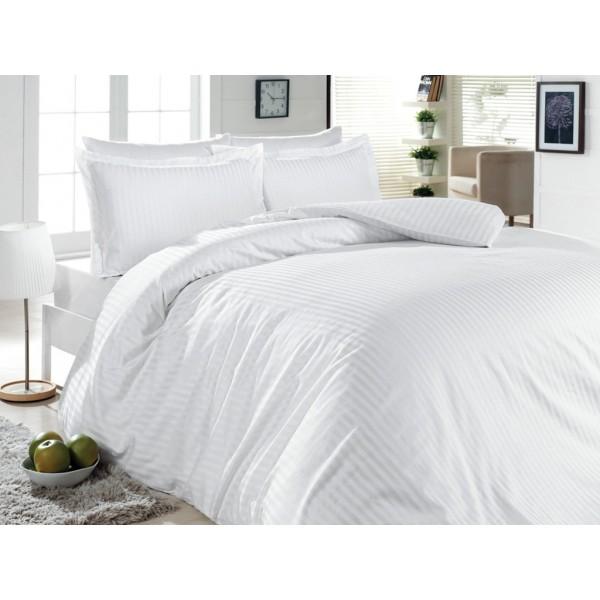 Простынь SoundSleep отель сатин-страйп белая 240х260 см