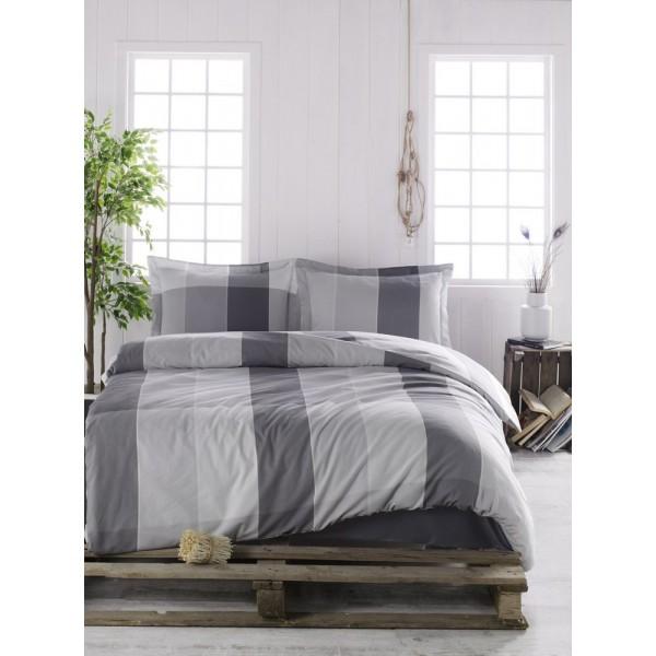 Комплект постельного белья SoundSleep ранфорс Clark серый евро