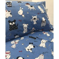 Baby linen SoundSleep Dogs blue