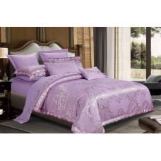 Bed linen set Luxury violet SoundSleep satin-jacquard purple euro