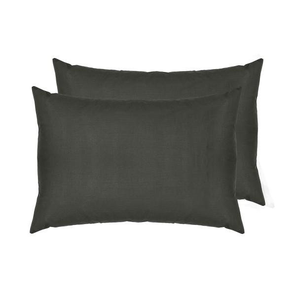 Комплект наволочек SoundSleep Dyed Dark grey ранфорс 50х70 см