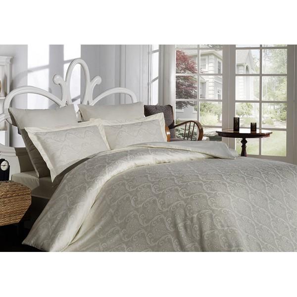 Комплект постельного белья SoundSleep Damask жаккард евро Cream