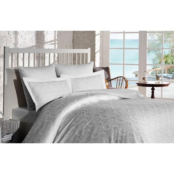 Комплект постельного белья SoundSleep Damask жаккард семейный White