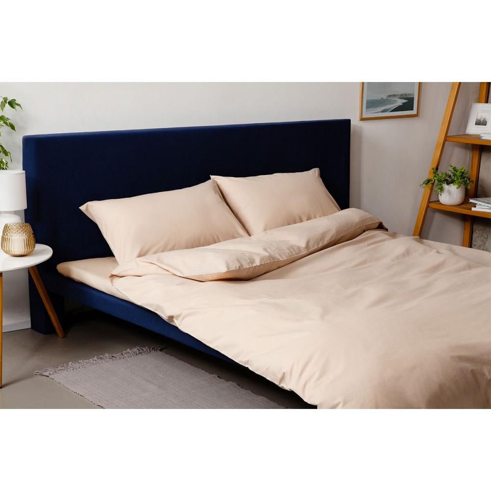 Комплект постельного белья SoundSleep Dyed Beige ранфорс евро