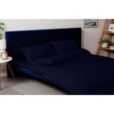 Комплект постельного белья SoundSleep Dyed Dark blue ранфорс двуспальний