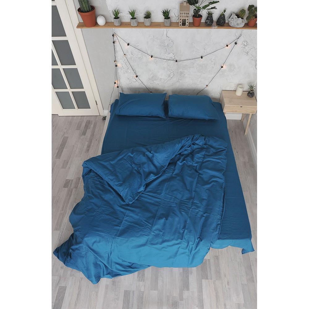 Комплект постельного белья SoundSleep Dyed Green ранфорс евро