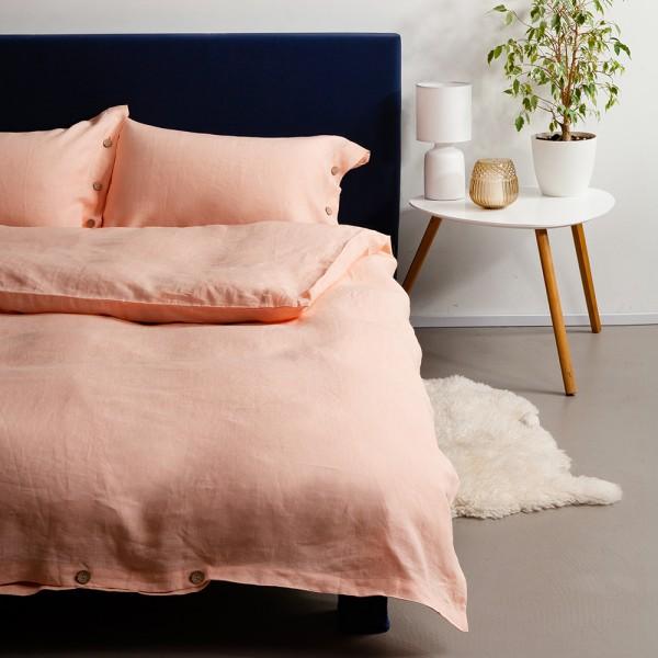 Льняное постельное белье SoundSleep Blossom Peach семейный