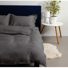 Bed linen made of softened linen Soft Dark Gray SoundSleep euro