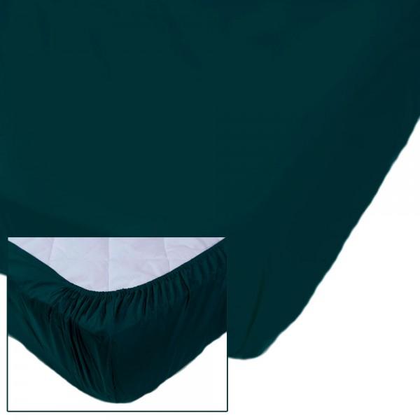 Простынь на резинке SoundSleep Dyed Green ранфорс 160х200 см