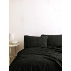Комплект постельного белья SoundSleep Masaik Stonewashed Black евро