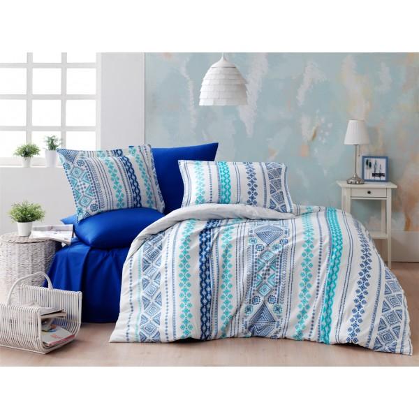 Комплект постельного белья SoundSleep ранфорс Zaur mavi евро