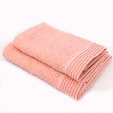 Towel SoundSleep Andora jacquard terry 50x90 cm peach