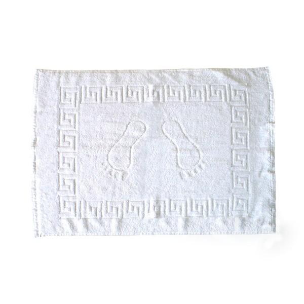 Полотенце махровое для ног Nostra жаккард белое 50х70 см