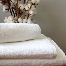 Махровое полотенце Nostra без бордюра белое 30х50см