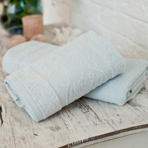 Махровое полотенце SoundSleep Isparta lightblue 50х90 см