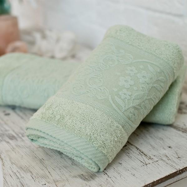 Махровое полотенце SoundSleep Isparta green 70х140 см