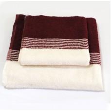 Махровое полотенце SoundSleep бежевое 50х100 см