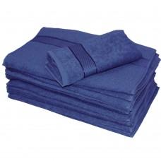 Махровое полотенце SoundSleep сине-голубой 50х100 см