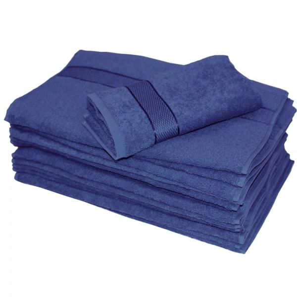 Полотенце махровое SoundSleep Rossa 70x140 см темно-синее