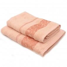 Полотенце SoundSleep Leila жаккард махровое 70х140 см персиковый