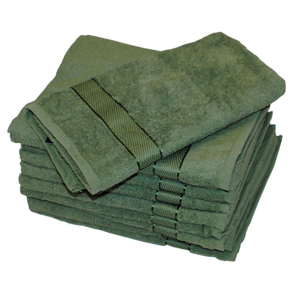 Полотенце махровое SoundSleep Rossa 100x150 см зеленое