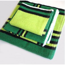 Махровое полотенце SoundSleep зелено-черное 50х100 см