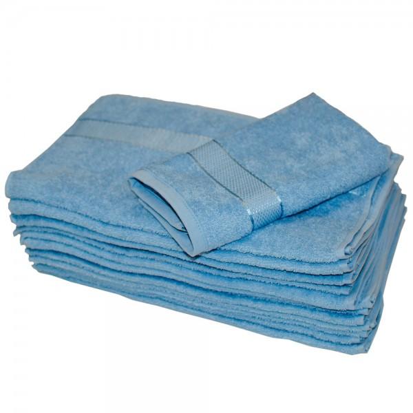 Полотенце махровое SoundSleep Rossa 40x70 см голубое