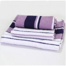 Махровое полотенце SoundSleep фиолетовое 50х100 см