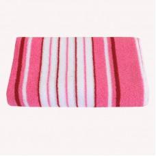 Махровое полотенце SoundSleep розовое 90х150 см