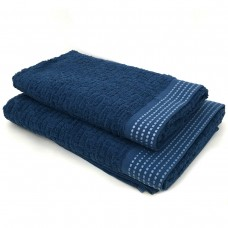 Towel SoundSleep Andora jacquard terry 70x140 cm dark blue-blue